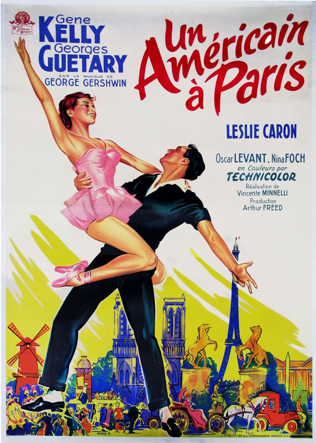 "French-release poster for ""An American in Paris"" that belonged to Gene Kelly."