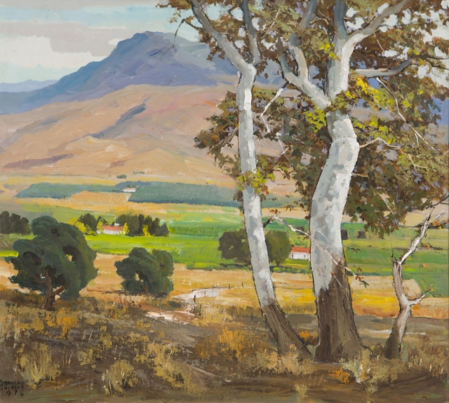 """San Cayetano"" by Douglas Shively (Collection of the Santa Paula Art Museum)"