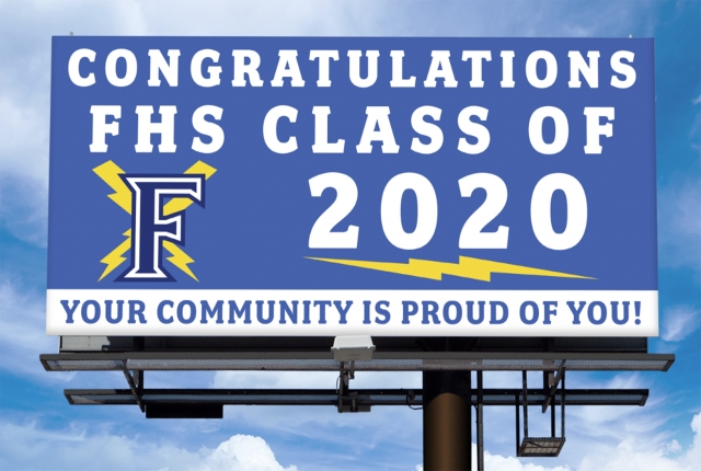 FHS Class of 2020 Billboards