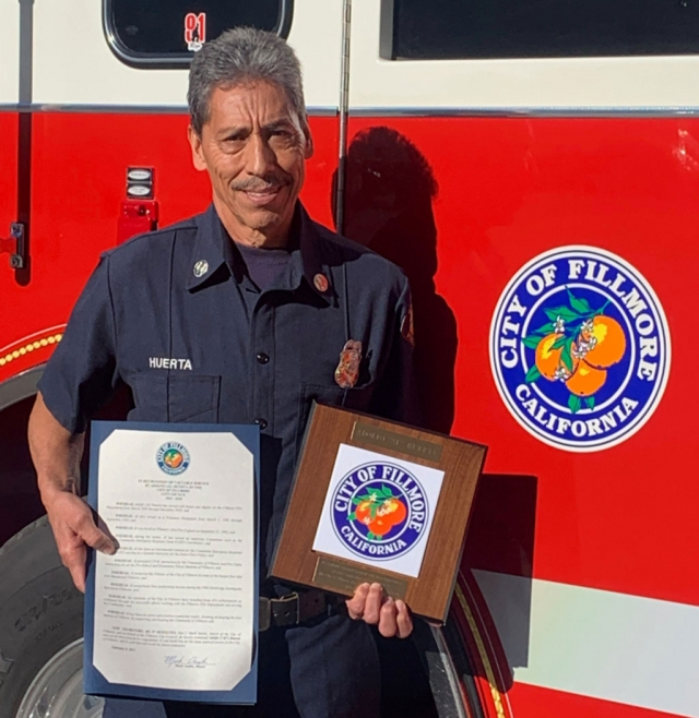 Captain Adolfo (Al) Huerta of the Fillmore Fire Department.