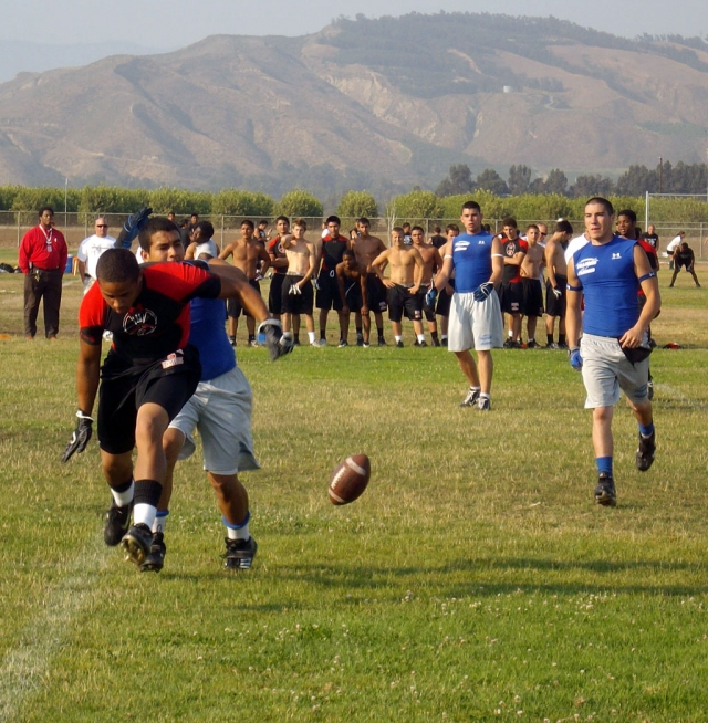 The Fillmore Flashes Football team has started the summer passing league. Last Thursday they played two games at Rio Mesa High School, one against Pacifica and the other against Rio Mesa.