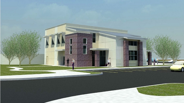 A rendering of the KCLU Broadcast Center.