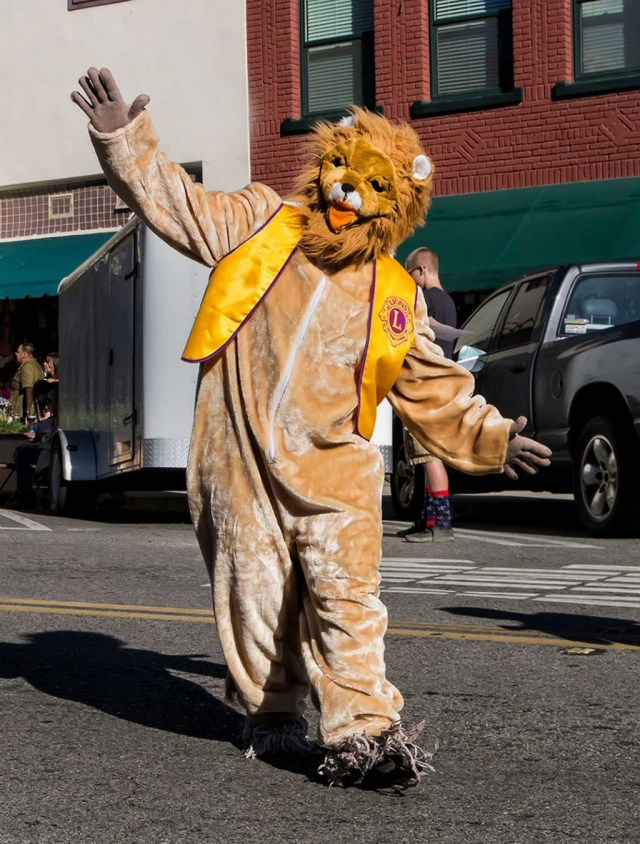 Leo the Lion at the Christmas Parade last year.