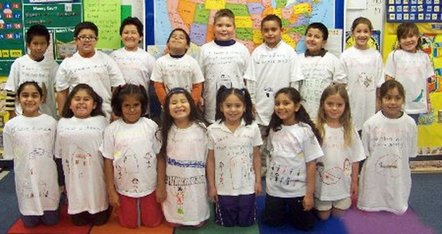 Mrs. Myers' 2nd grade class at Mountain Vista
