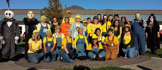 Annual Halloween Costume walk at Mountain Vista Elementary School. This year the staff dressed up like the movie