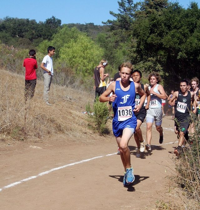 JV Boys's Runner of the Week - Nicholas Johnson. Had a stand out performance at Ventura County Championships with a time of 19:15.