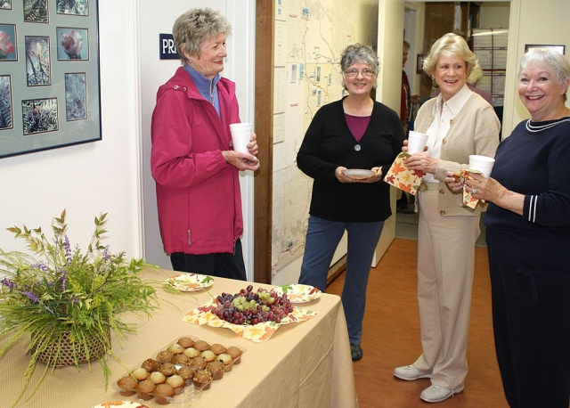 Ojai Valley Museum Docents: (l-r) Lucy Lucking, Carol Fergus, Marian Newman and Michele Fitton. Photograph courtesy of Fred Kidder.