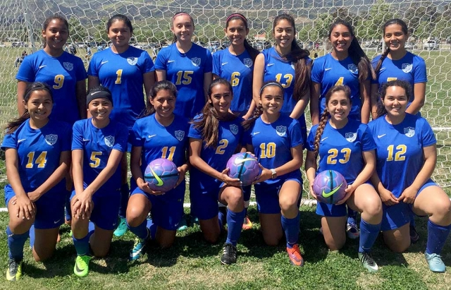 Our local Fillmore girls had two great wins this past weekend with a victory on Saturday, April 8th, vs Ventura Galaxy 3-2; goals by Sophie Pina, Anahi Andrade and Andrea Perez and Sunday vs. Oxnard United 5-2; goals by Aaliyah Lopez, Anahi Andrade (2) and Areanna Covarrubias (2). The girls are currently in 2nd Place. Keep up the good work girls! Submitted by Jennie Andrade.