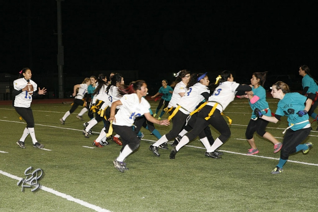 Fillmore High School held their annual Powder Puff Football game last Friday evening. The Juniors and Seniors played 4 quartes of ttough offence and defence and only one touchdown. The Juniors won 6-0 , it has been a little over 6 years since a Junior team has won. Photo's courtesy of KSSP Photographic Studios.