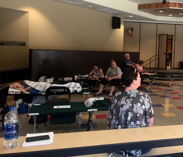 On Saturday, July 7th the Fillmore Fire Department got together with City officials and The Red Cross to coordinate a cooling center at Rio Vista Elementary as well as free transportation for the residents of El Dorado to the site during the power outage.