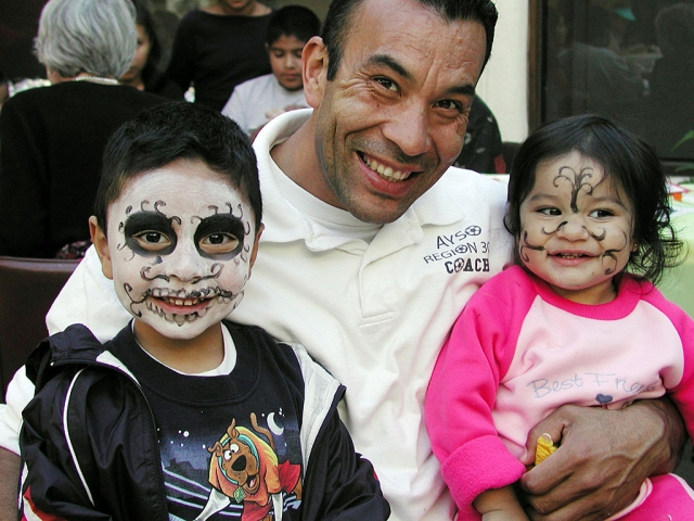 Robert Gutierrez & children.