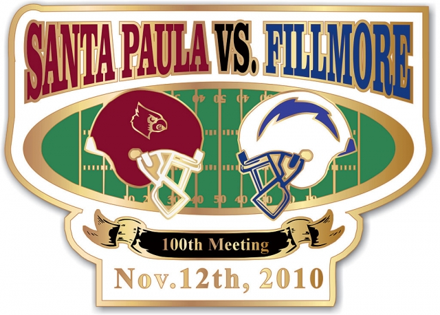 The Junior Class from Fillmore High School is selling Collector Sports Enamel Pins for the 100th Santa Paula vs. Fillmore Football Game. Each pin is $4. Contact Taelor Burhoe at 805-421-6813 to pre-order. Please help us Fundraise for PROM!