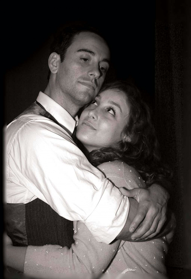 Georg (Geoffrey Helms) and Amalia (Danielle Protugal) are lovers at last in SHE LOVES ME.