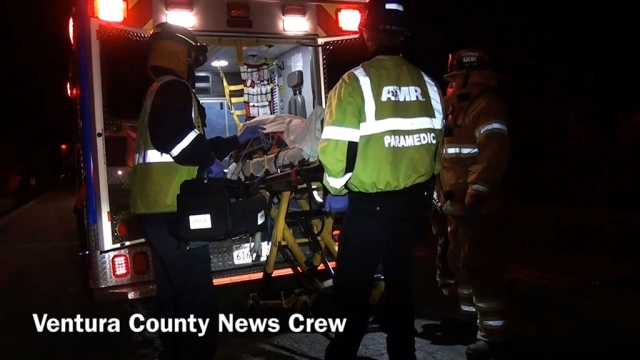 On May 27 at 8:30 p.m., a solo vehicle crash ended with it driving into an embankment at Old Telegraph Road and Grand Avenue. The vehicle was found 100-feet off the road, with the driver trapped inside. She was extricated by 8:50 p.m., and taken to the Ventura County Medical Center. Her condition has not been released. Old Telegraph Road was closed in both directions between Grand Avenue and C Street. Photo courtesy Ventura County News Crew.