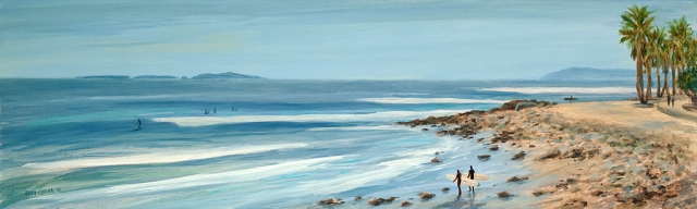 """Surfer's Point III"" oil painting by Tina O'Brien."
