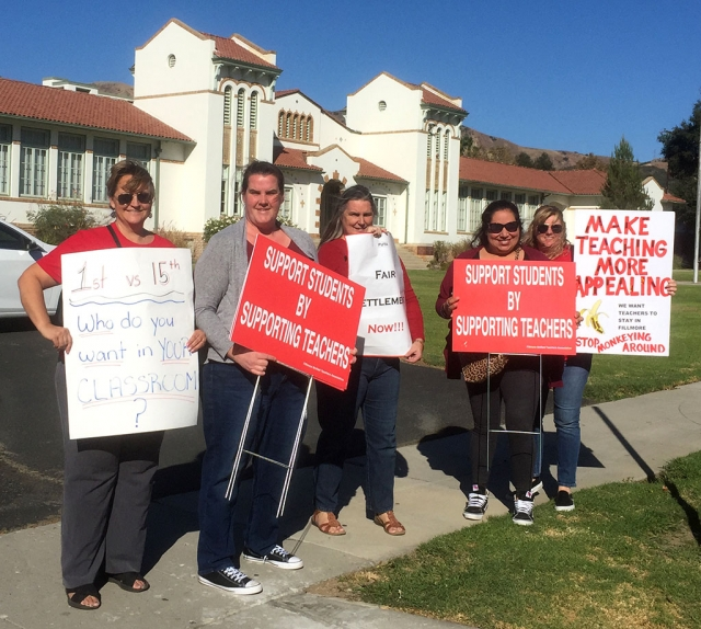 Monday, October 28th at around 4:30pm FUTA members gathered in front of the Fillmore Unified School District office encouraging drivers to honk in support of their fight for fair and equitable salaries. Negotiations began in February 2019 and have yet to reach an agreement.