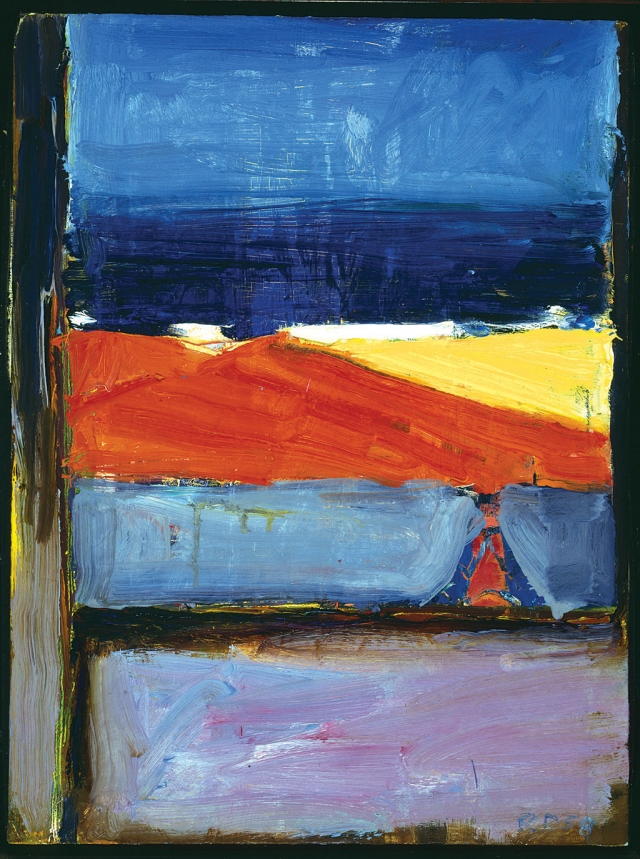 """View of the Ocean Santa Cruz Island"" - 1958 by Richard Diebenkorn. Collection of Santa Cruz Island Foundation."
