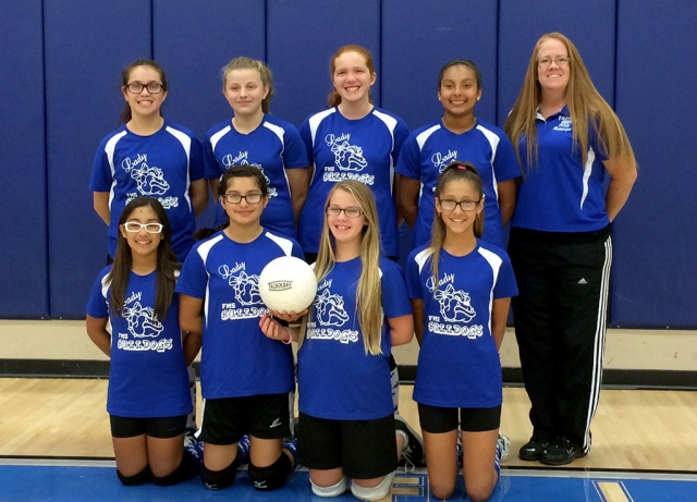 Congratulations to Lady Bulldogs Volleyball on a great season. Pictured is the 7th-8th grade team.