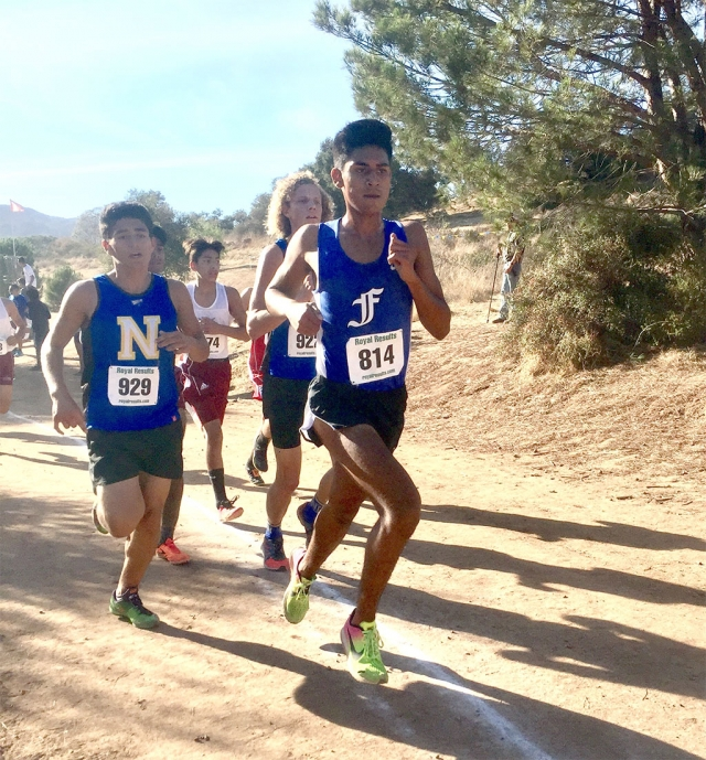 Nick Villela leads the Flashes in a victory as the first ever Citrus Coast League Championships. Photos courtesy Coach Kim Tafoya.