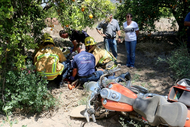 A woman was injured in a solo motorcycle accident on Friday, June 19th, at 2:11pm. The accident took place on South Mountain Road at Sespe Street in Bardsdale. The rider appeared to have lost control of her bike, which went down a short embankment. Three units were on scene. A helicopter was called to the sight, then cancelled. The woman was transported by ambulance to an area hospital with unknown injuries. Her riding partner was not involved in the accident.
