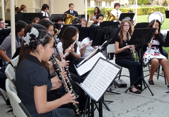 The Fillmore High School Jazz Band performed for the public during the Art Show.