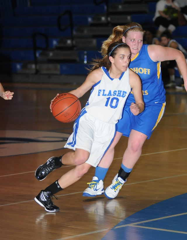 Ana Morino #10 dribbles around Nordoff to score. Fillmore lost to Nordoff 56-46. Anyssa Cabral had a game-high of 17 points and Jaynessa Lopez contributed 13. Fillmore's next home games are Thursday, January 26th against Saint Bonaventure, and Saturday, January 28th against Oaks Christian.