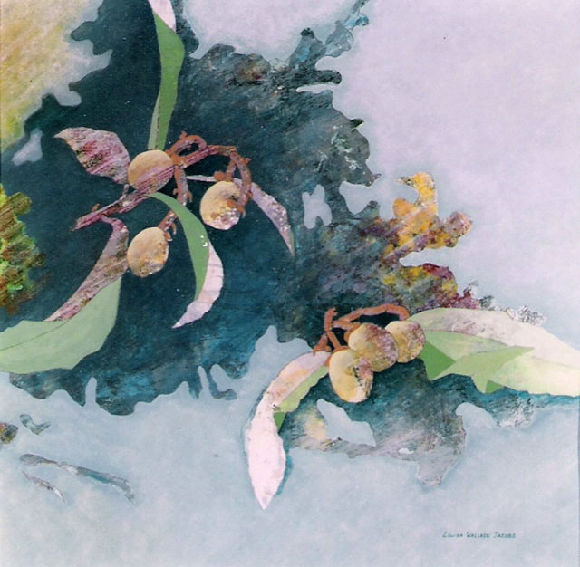 "Best of Show 2009 ""Loquat Filament Quadrangle"" watercolor by Louisa Wallace Jacobs"
