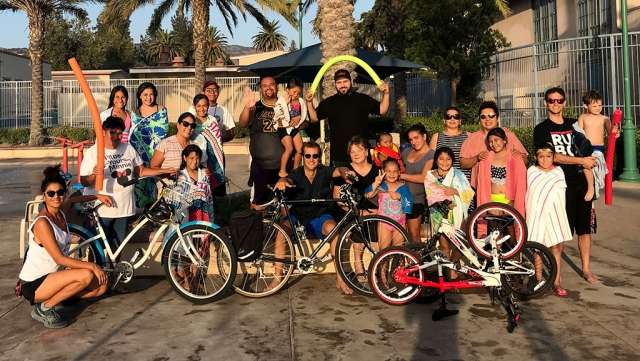 The 2nd Annual Big Bike Splash-Bike Safety Class took place on September 1st. The event kicked off with a bike ride and ended with a pool party at the Fillmore Aquatic Center. The event was sponsored by the Fillmore Lions Club. Photo courtesy Katrionna Furness.