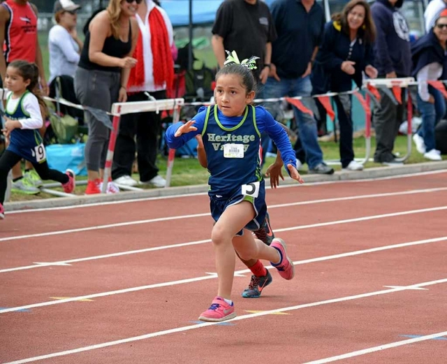Jasmine Gonzales helped her team get 2nd in the 4X100 meter relay Saturday in the Gremlin girl division.