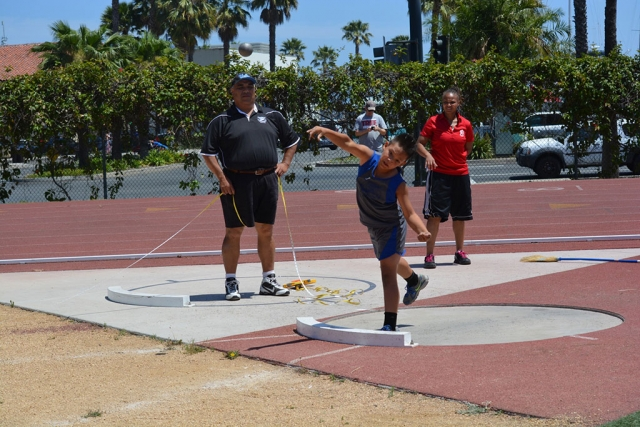 Nicholas Andrade (bantam) 9th place in Shot Put