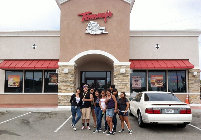 Buddy also took his middle school group to Salzers Music & Tommy's Burgers.