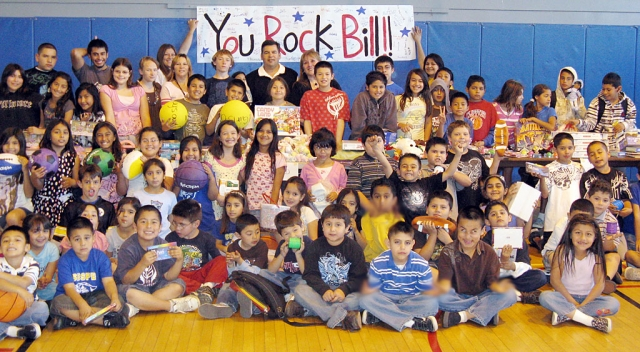 Bill Herrera, standing at back, is shown with members of the Fillmore/Piru Boys & Girls Club. Herrera donated