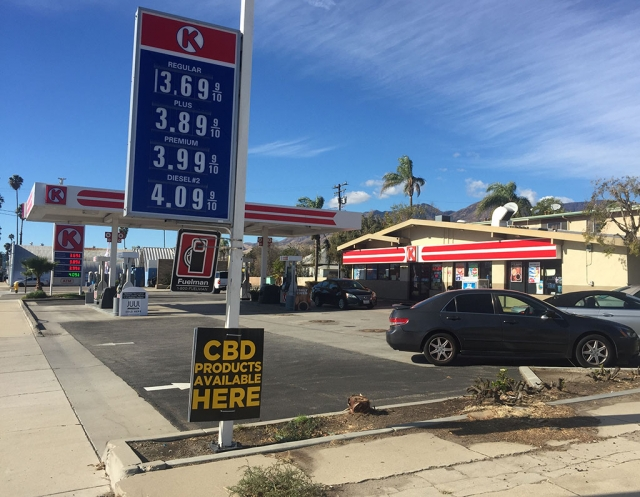 Circle K Gas & Market, located at 423 West Ventura Street, Fillmore, now offers CBD products.