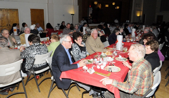 Trinity Episcopal Church held its Annual Prime Rib Dinner on Saturday, February 5th at the Veteran's Memorial Building. The place was packed, the food was good, the company was great!