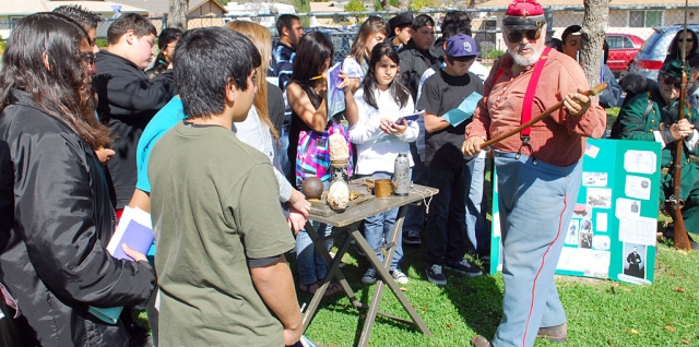 Fillmore Middle School held their Civil War Reenactment last Friday, March 12. The event was held in the parking lot, from 9 - 11:30. The students wore costumes for the reenactment and there were several displays on site including a cannon.