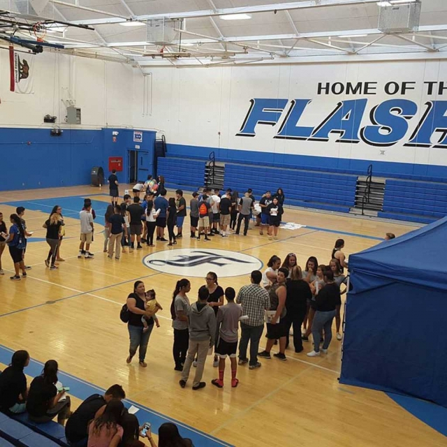 On Monday, June 12th Fillmore High School held an Athletic Clearance Day for the incoming freshmen and other grade level athletes for their free physicals in order to participate in sports for the upcoming school year.