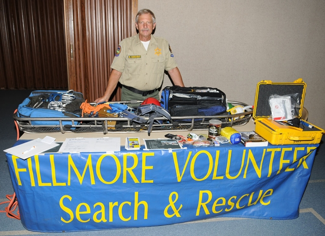 Fillmore Volunteer Search & Rescue attended the Community Preparedness program, offering materials and literature about the organization.