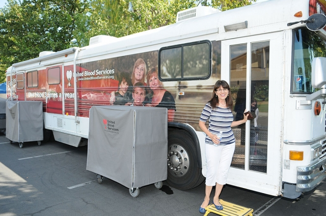 United Blood Services held a blood drive at the Disaster Preparedness event Saturday