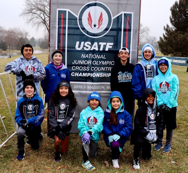 Pictured is the Fillmore Condors Cross Country team in Madison, Wisconsin at the USA Track and Field Junior Olympics on Saturday, December 14th. Left to right, Top row: Diego Rodriguez, Leah Barragan, Noah Flores, Lindsey Ramirez and Diego Felix. Bottom row: Ayden Barajas, Carolina Garcia, Lucy Zuniga, Destina Guzman and Abel Arana. Not pictured: The Theobald sisters. Photos courtesy Margarita Felix.