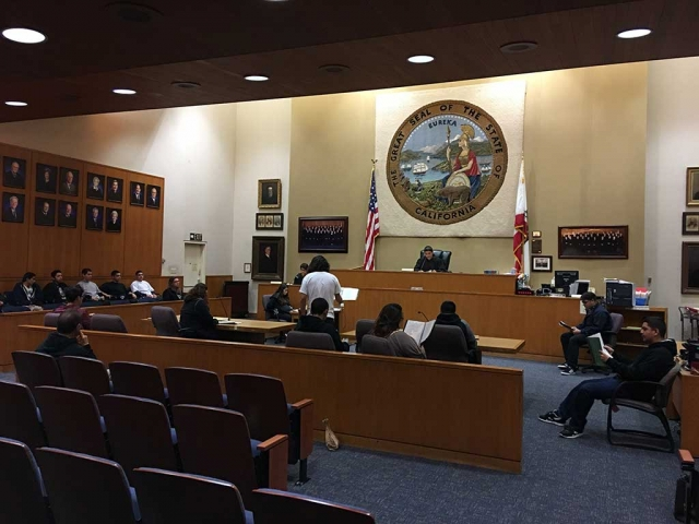 Fillmore's Sierra High Students attended a field trip to the Hall of Justice at the Ventura Government
