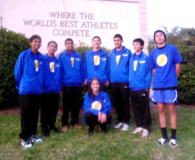 Pictured above (l-r): Alexander Gonzalez, Adrian Mejia, Paul Gonzalez, Anthony Chavez, Eddie Baez, Jose Almaguer, Juan Mariscal and below Andrea Barrera. After a long summer training and a season of personal records for these individuals, the Fillmore Flashes Boys Varsity Cross Country team and Andrea Barrera qualified for CIF Prelims this past Saturday. The team competed at Mt. San Antonio college this past Saturday and took 20th overall in their division in the Southern Section. Cross Country Photo's courtesy of Kim Tafoya.