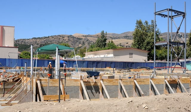 The Fillmore High School Career Technical Education Facility, Agricultural & Transportation SDSR (Systems Diagnostic Service and Repair) Pathway buildings are making progress despite the COVID-19 Pandemic. The project timeline is scheduled for summer 2019 to spring 2021 and is funded by the Measure V Bond and State CTE Funding.