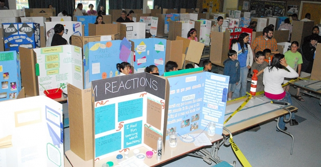 The San Cayetano Science Faire, Tuesday, was hosted by the school's NASA Team. All elementary students in Fillmore and Piru participated.
