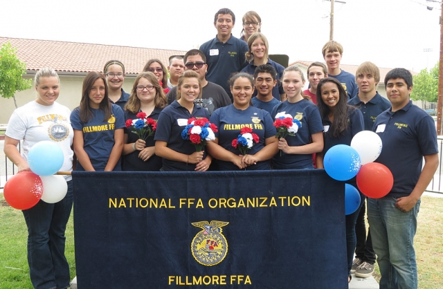 FFA members after the third annual Filllmore FFFA Fourth of July Freedom Breakfast.