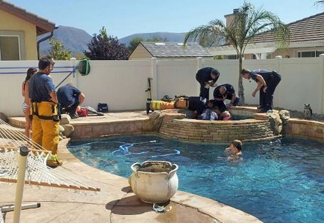 On Sunday August 26th Fillmore Fire Department responded to a person stuck in a pool hot tub. Upon arrival we found a teen aged female with her finger stuck in the hot tube water outlet. Fillmore firefighter were able to remove her finger with little damage to pool hot tub and no injuries to the teenager. Great job Fillmore Fire Department!