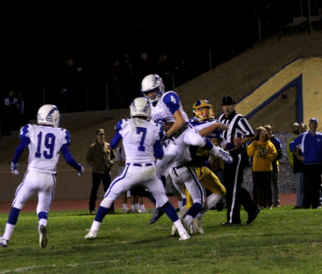 #4 Hayden wright gets the interception. Photos courtesy Crystal Gurrola