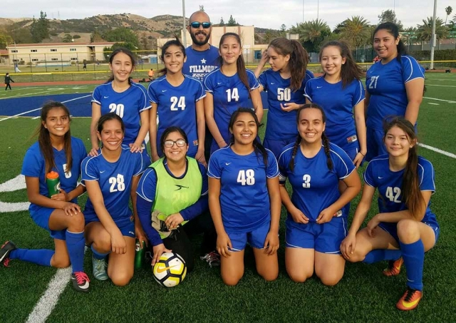 Submitted By Coach Omero Martinez. Fillmore traveled to Thacher on Monday, February 5th. Both JV & Varsity came out ready to play. Varsity missed a few opportunities in the first half, but made up for it in the second half coming back with four goals. Ana Covarrubias had 2 goals and 2 assist. Anahi Andrade had 1 goal, Andrea Marruffo had 1 goal and assist. Final Score 4-1. JV continues there winning ways with a 5-0 victory. Goals were scored by Isabella Vaca (2), Celi (2) and Sophia Pina (1). Great job!!!