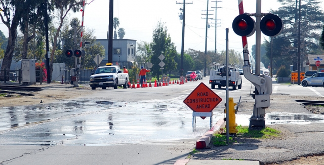 The city had problems with flooding in the vicinity of A Street at the railroad crossing during the last
