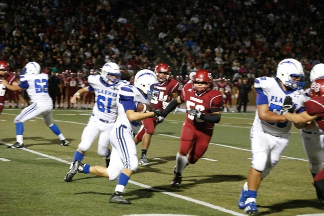 Santa Paula Cardinals football team won Friday's home nonconference game against rival Fillmore Flashes by a score of 26-7. Football photos courtesy KSSP Photographic Studio.