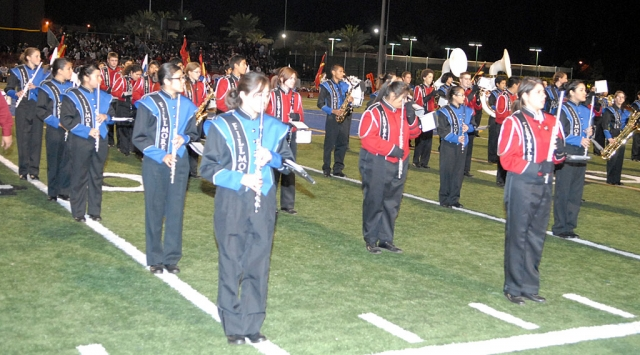 Fillmore High School Marching Band performed Friday night with Santa Paula. Both bands did an exceptional job.